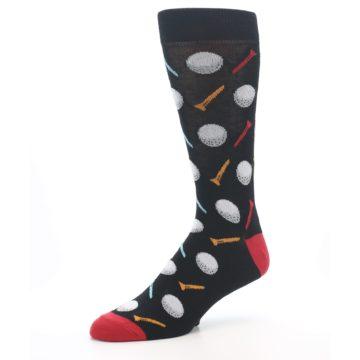 Image of Golf Balls & Tees Men's Dress Socks (side-2-09)