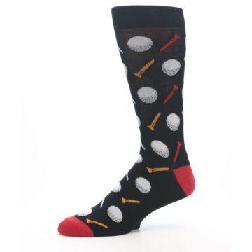 Image of Golf Balls & Tees Men's Dress Socks (side-2-10)