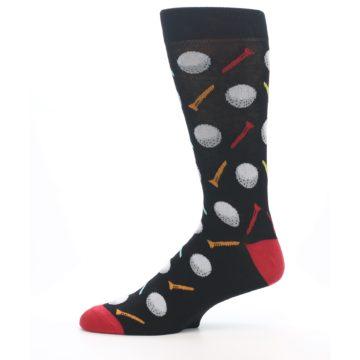 Image of Golf Balls & Tees Men's Dress Socks (side-2-11)
