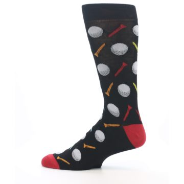 Image of Golf Balls & Tees Men's Dress Socks (side-2-12)