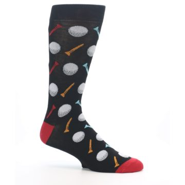 Image of Golf Balls & Tees Men's Dress Socks (side-1-25)