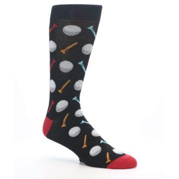 Image of Golf Balls & Tees Men's Dress Socks (side-1-26)