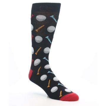 Image of Golf Balls & Tees Men's Dress Socks (side-1-27)