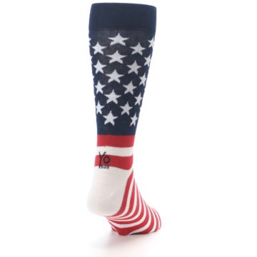 Image of Red White Blue American Flag Men's Dress Socks (side-1-back-20)