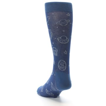 Image of Blue Planets & UFO Men's Dress Socks (side-2-back-16)