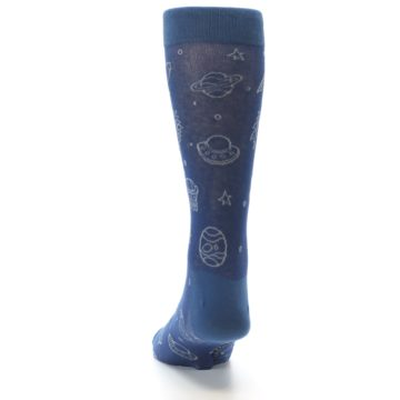 Image of Blue Planets & UFO Men's Dress Socks (back-17)