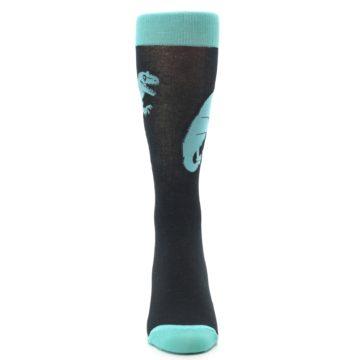 Image of Black Aqua T-Rex Men's Dress Socks (front-04)