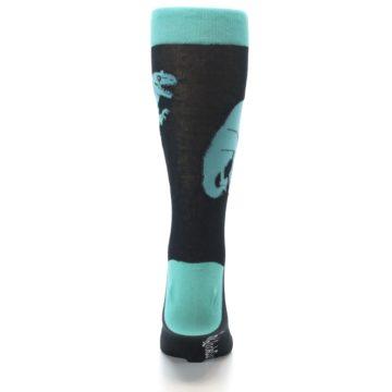 Image of Black Aqua T-Rex Men's Dress Socks (back-18)