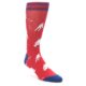 Red White Navy Hockey Player Dress Socks