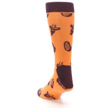 Image of Orange Maroon BBQ Grilling Men's Dress Socks (side-2-back-16)