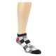 Image of Black White Grey Checkered Men's Ankle Socks (side-1-front-01)