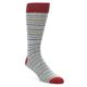 Image of Grey Red White Stripe Men's Dress Socks 2 Pack (side-1-front-02)