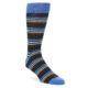 Image of Navy Blue Stripe Men's Dress Socks 2 Pack (side-1-front-02)