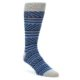 Image of Navy Blue Stripe Men's Dress Socks 2 Pack (side-1-front-03)