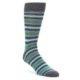 Image of Grey Blue Green Stripe Men's Dress Socks 2 Pack (side-1-front-02)