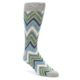 Image of Grey Blue Green Stripe Men's Dress Socks 2 Pack (side-1-front-03)