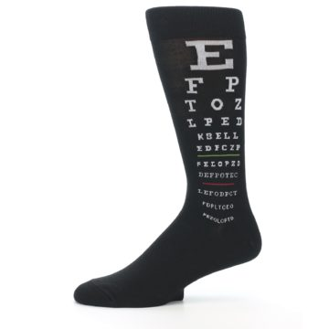 Image of Black White Doctor Eye Chart Men's Dress Socks (side-2-11)