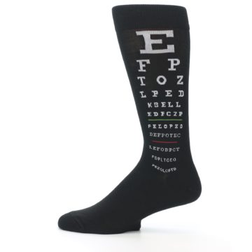 Image of Black White Doctor Eye Chart Men's Dress Socks (side-2-12)