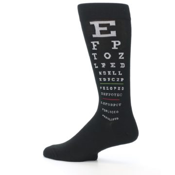 Image of Black White Doctor Eye Chart Men's Dress Socks (side-2-13)