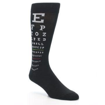 Image of Black White Doctor Eye Chart Men's Dress Socks (side-1-27)