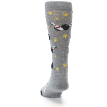 Image of Grey Bowling Men's Dress Socks (back-17)