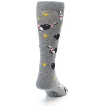 Image of Grey Bowling Men's Dress Socks (side-1-back-20)