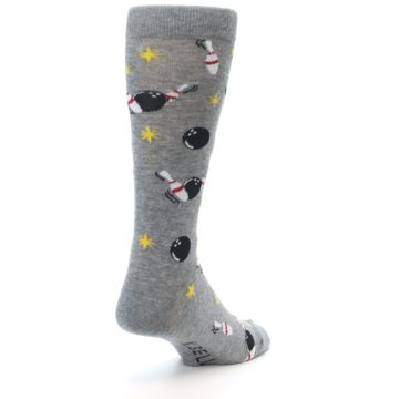 Image of Grey Bowling Men's Dress Socks (side-1-back-21)