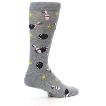 Image of Grey Bowling Men's Dress Socks (side-1-23)
