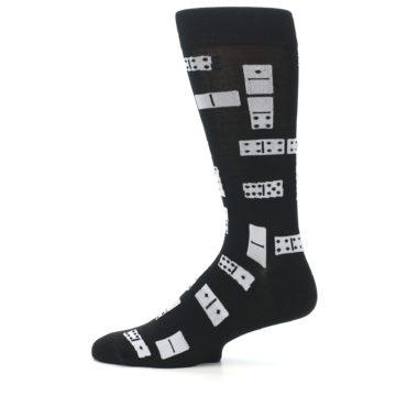 Image of Black White Dominos Men's Dress Socks (side-2-12)