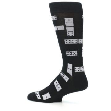 Image of Black White Dominos Men's Dress Socks (side-2-13)