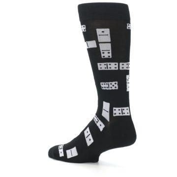Image of Black White Dominos Men's Dress Socks (side-2-back-14)