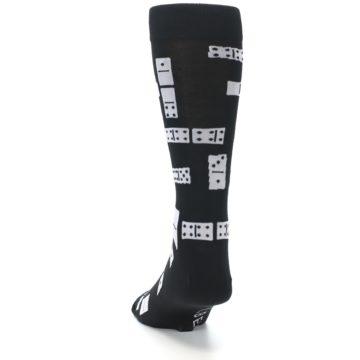 Image of Black White Dominos Men's Dress Socks (back-17)