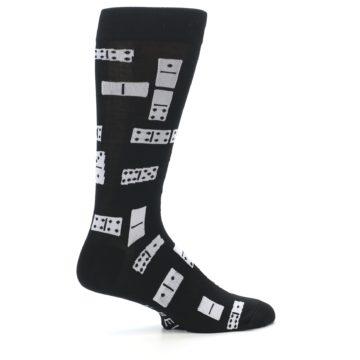 Image of Black White Dominos Men's Dress Socks (side-1-24)