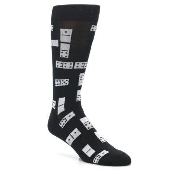 Image of Black White Dominos Men's Dress Socks (side-1-27)