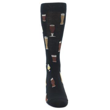 Image of Black Craft Beer Glass Men's Dress Socks (front-04)
