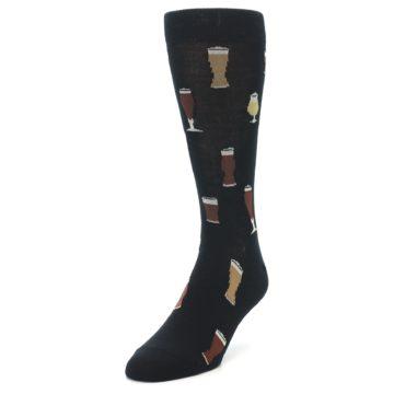 Image of Black Craft Beer Glass Men's Dress Socks (side-2-front-07)