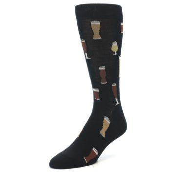 Image of Black Craft Beer Glass Men's Dress Socks (side-2-front-08)