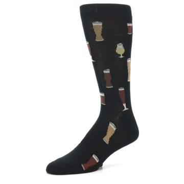 Image of Black Craft Beer Glass Men's Dress Socks (side-2-09)