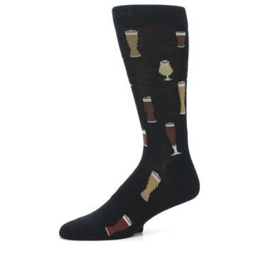 Image of Black Craft Beer Glass Men's Dress Socks (side-2-10)