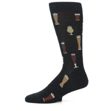 Image of Black Craft Beer Glass Men's Dress Socks (side-2-11)