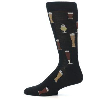 Image of Black Craft Beer Glass Men's Dress Socks (side-2-12)