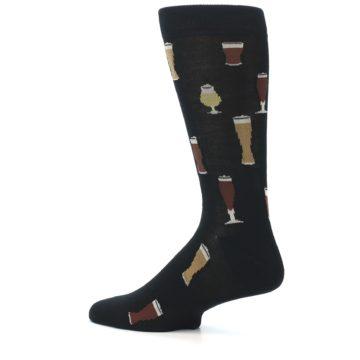 Image of Black Craft Beer Glass Men's Dress Socks (side-2-13)