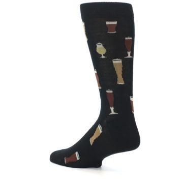 Image of Black Craft Beer Glass Men's Dress Socks (side-2-back-14)