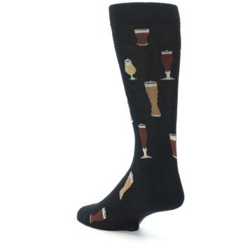 Image of Black Craft Beer Glass Men's Dress Socks (side-2-back-15)