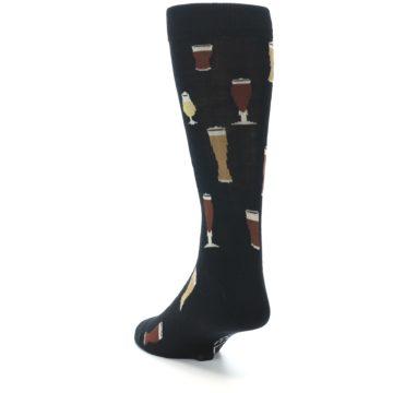 Image of Black Craft Beer Glass Men's Dress Socks (side-2-back-16)