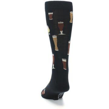 Image of Black Craft Beer Glass Men's Dress Socks (back-17)
