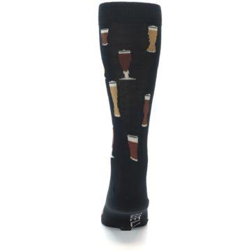 Image of Black Craft Beer Glass Men's Dress Socks (back-18)