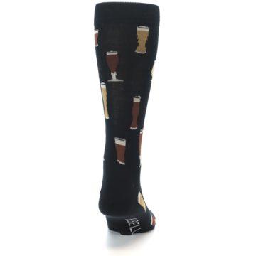Image of Black Craft Beer Glass Men's Dress Socks (back-19)