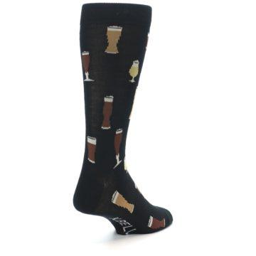 Image of Black Craft Beer Glass Men's Dress Socks (side-1-back-21)