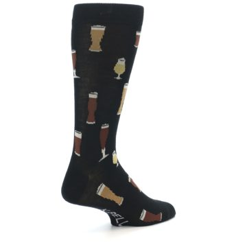 Image of Black Craft Beer Glass Men's Dress Socks (side-1-back-22)